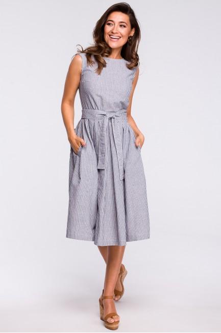 CM4467 Prążkowana sukienka...