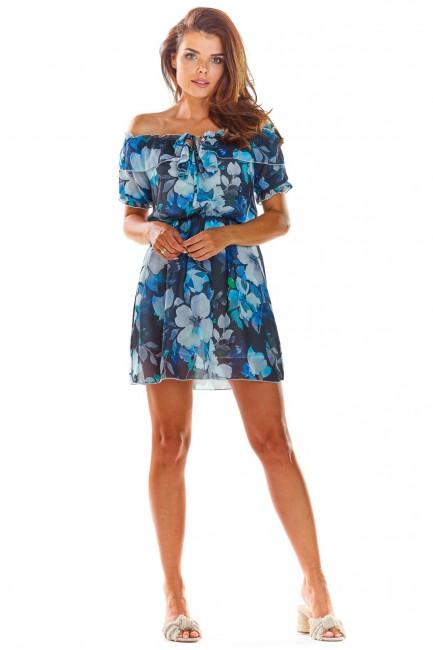 CM4501 Zwiewna sukienka z...