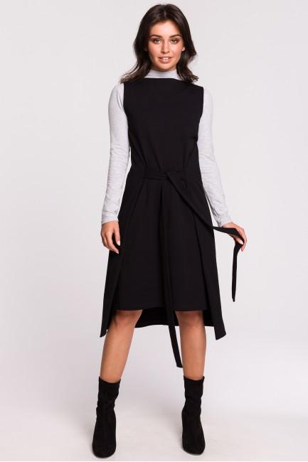 Sukienka-tunika bez rękawów - czarna
