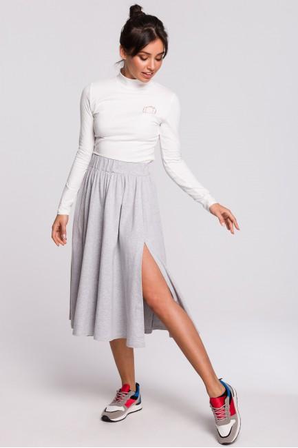 Spódnica midi rozkloszowana - szara