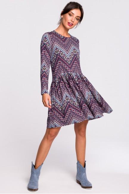 Sukienka mini z marszczeniem - model 1