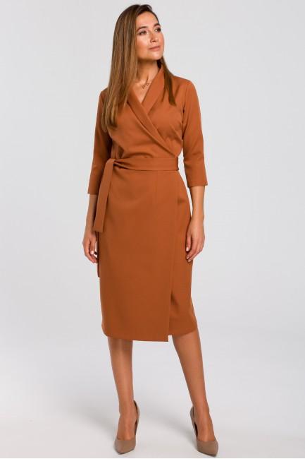 CM4637 Kopertowa sukienka z...