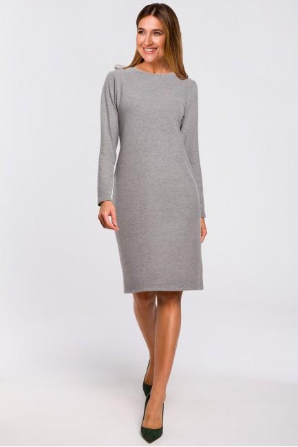 CM4640 Sukienka swetrowa z...