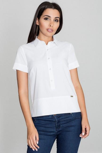 CM3232 Bluzka koszulowa z...