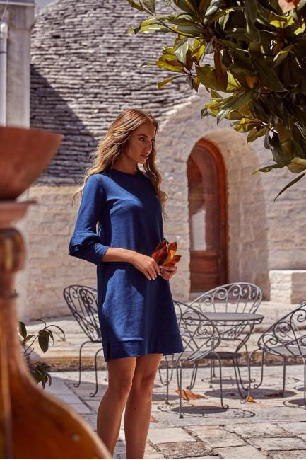 CM4764 Gładka sukienka z...