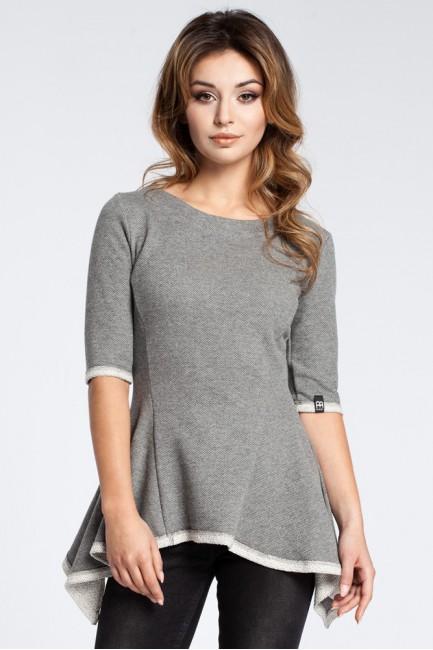 Kobieca bluzka baskinka - szara OUTLET