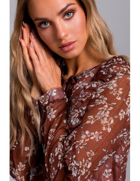 Szyfonowa sukienka w kwiaty - model 1