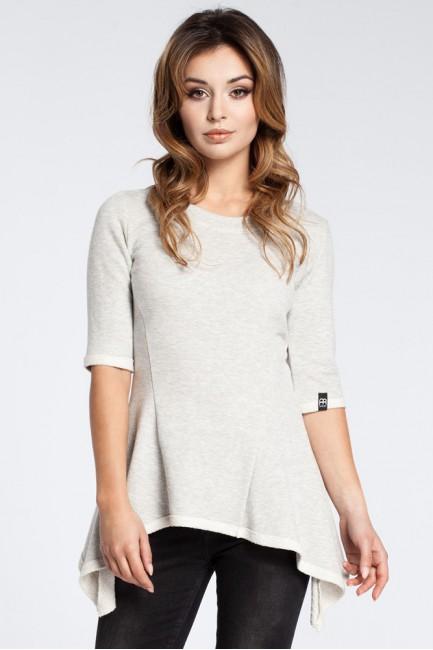 Kobieca bluzka baskinka - popielata OUTLET