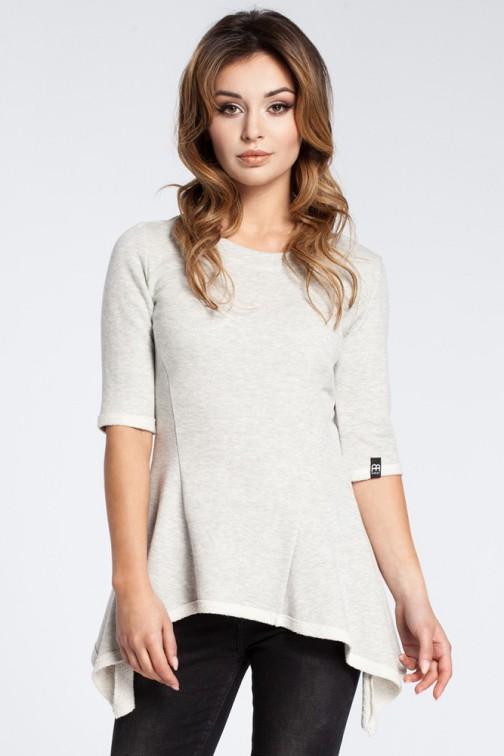 CM3038 Kobieca bluzka baskinka - popielata OUTLET