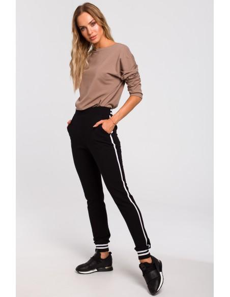 Spodnie ze ściągaczem - czarne