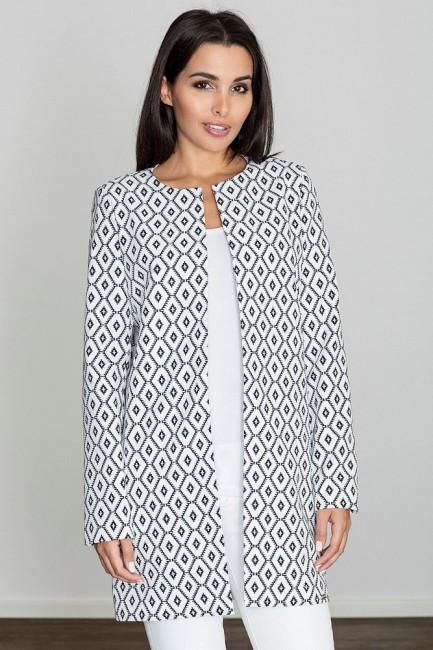 Długi prosty niezapinany płaszcz - wzór 69