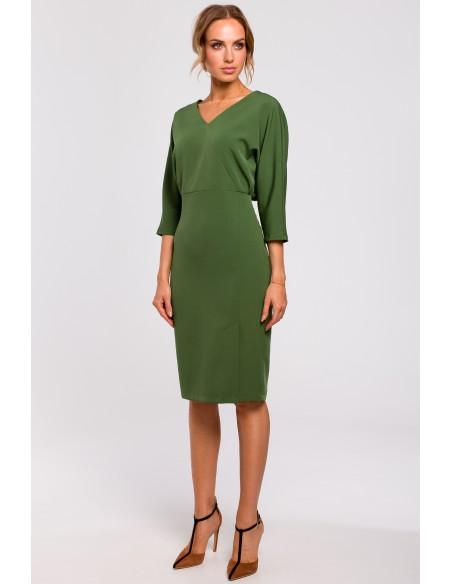 Sukienka z luźną górą - zielona