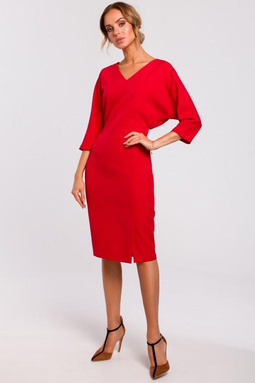 CM4782 Sukienka z luźną górą - czerwona
