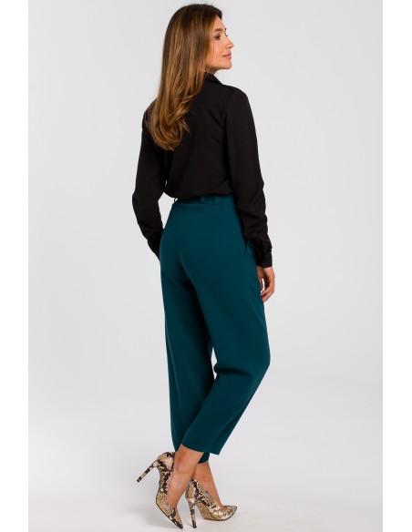 Spodnie z poszerzonymi nogawkami - zielone