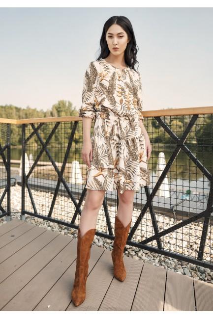 CM4662 Sukienka z falbanką...