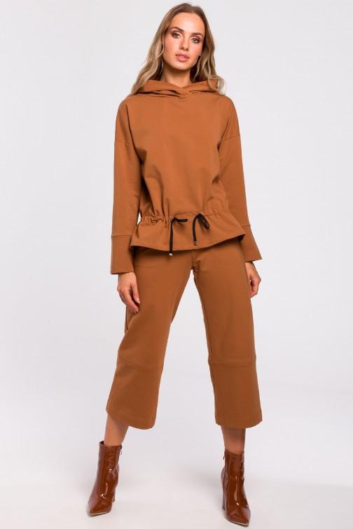 CM4768 Spodnie z poszerzonymi nogawkami - karmelowe OUTLET