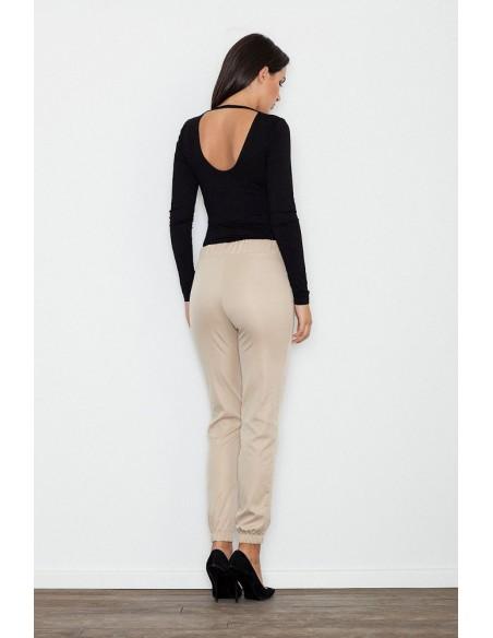 Eleganckie kobiece spodnie wizytowe - beżowe