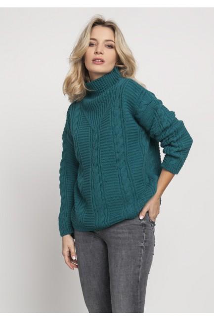 CM4674 Dzianinowy sweter z...