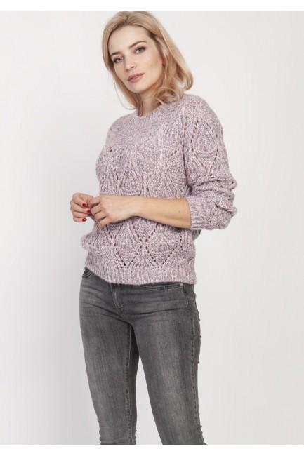 CM4677 Ażurowy sweter z...