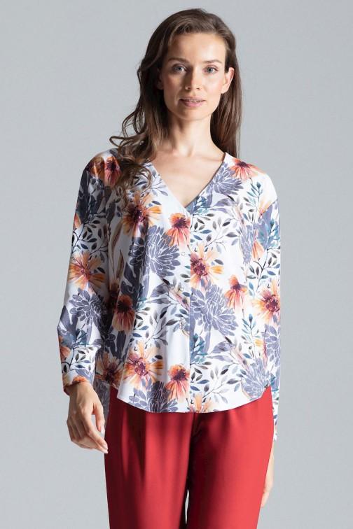 CM4693 Koszula z długim rękawem i dekoltem w serek - wzór 107