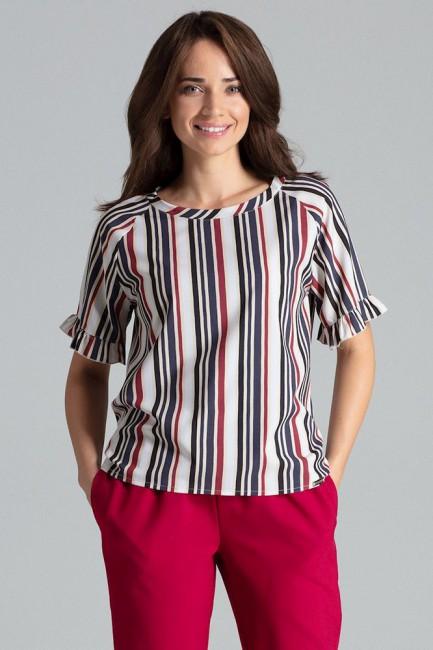 Prosta bluzka z raglanowym rękawem - wzór 110