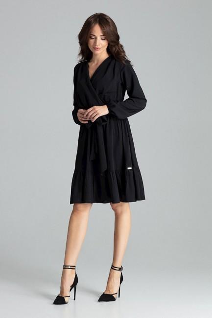 CM4704 Kopertowa sukienka z...