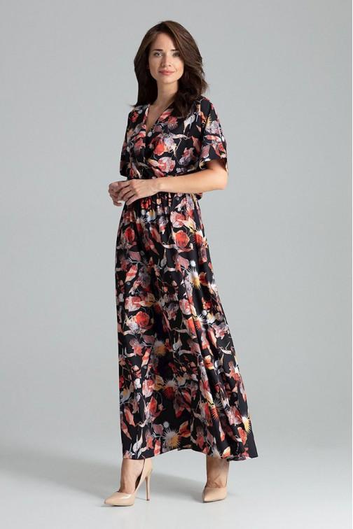 CM4706 Lekko rozkloszowana sukienka kimono - wzór 109