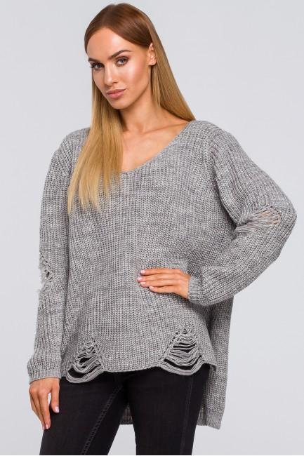 CM4806 Sweter z dziurami -...