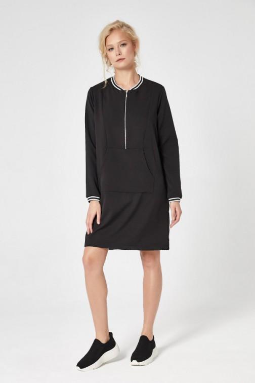 CM4732 Sportowa sukienka mini - czarna