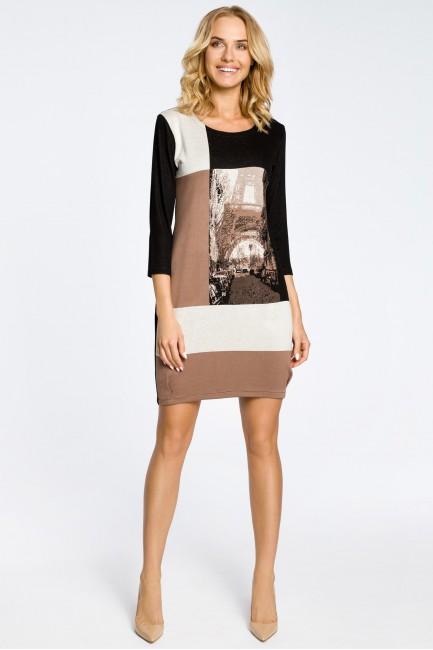 Modna sukienka tunika wieża Eiffla