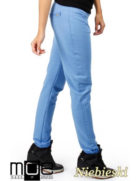 Dresowe spodnie damskie - niebieskie