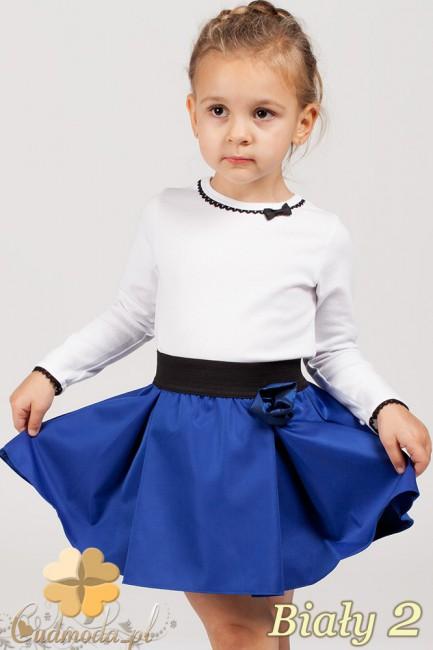 Klasyczna bluzeczka dla dziewczynki z koronką - biała 2
