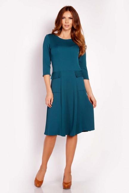 CM3291 Sukienka z ozdobnymi...