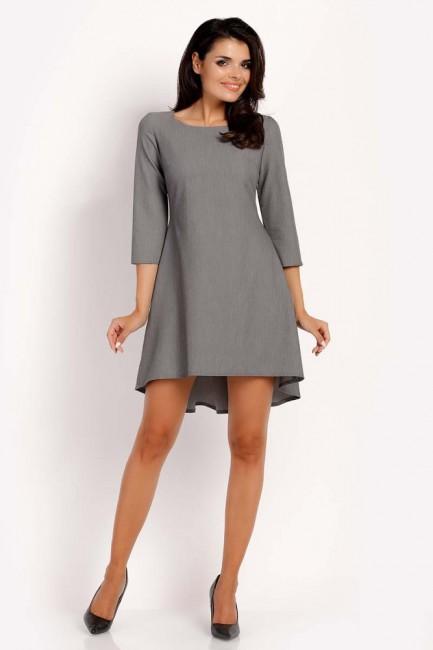CM3292 Trapezowa sukienka z...
