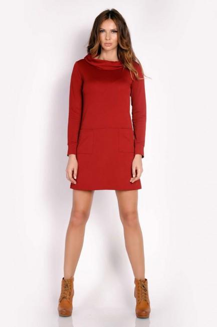 CM3295 Ciepła sukienka z...