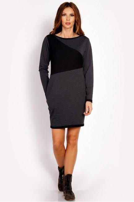 CM3318 Dresowa sukienka z...