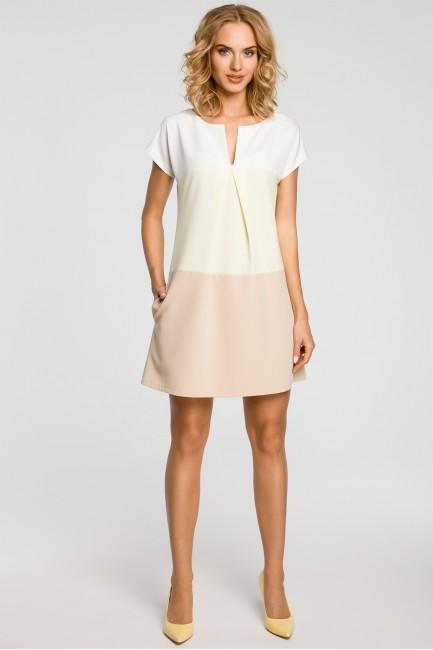 CM0823 Trapezowa sukienka w...