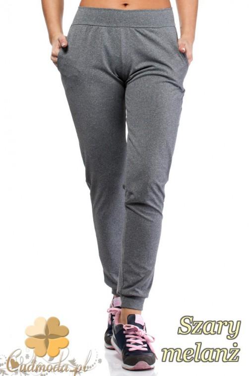 Elastyczne spodnie dresowe Paulo Connerti - szary melanż