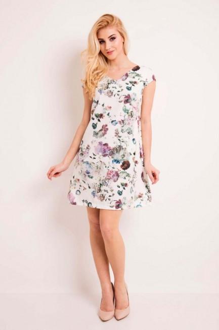 Krótka kwiecista sukienka