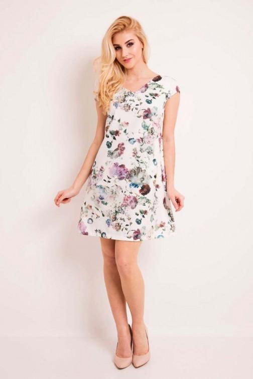 CM3332 Krótka kwiecista sukienka