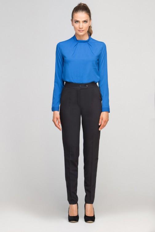CM3353 Eleganckie spodnie w kant - czarne