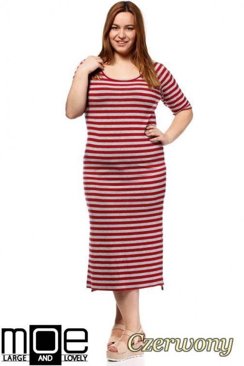 Elegancka sukienka maxi - czerwona