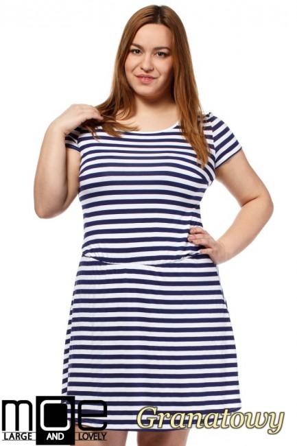 CM1656 Drapowana sukienka z...