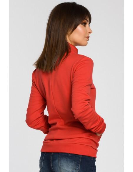 Bluza z wysokim kołnierzem - czerwona