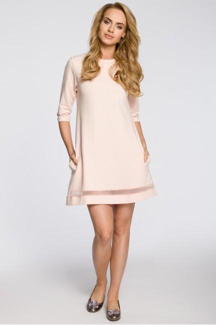 CM2221 Dzianinowa sukienka...