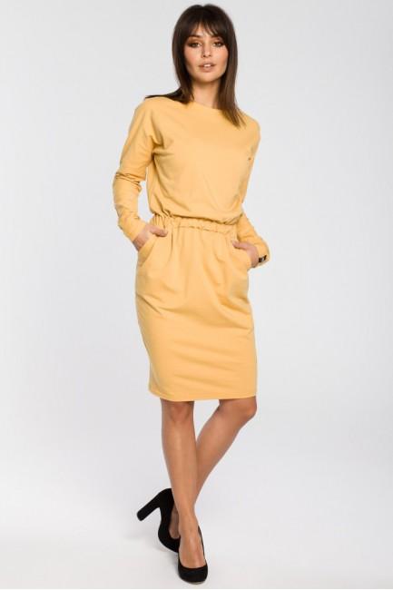 CM3443 Sukienka z gumą w...