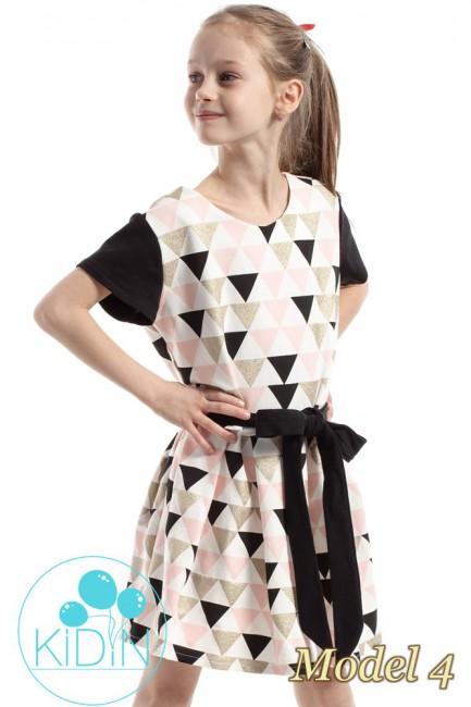 Dziewczęca sukienka w kontrafałdy - model 4