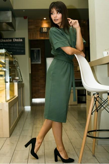 CM3445 Dzianinowa sukienka...