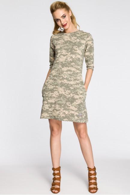 Dresowa sukienka moro - model 3