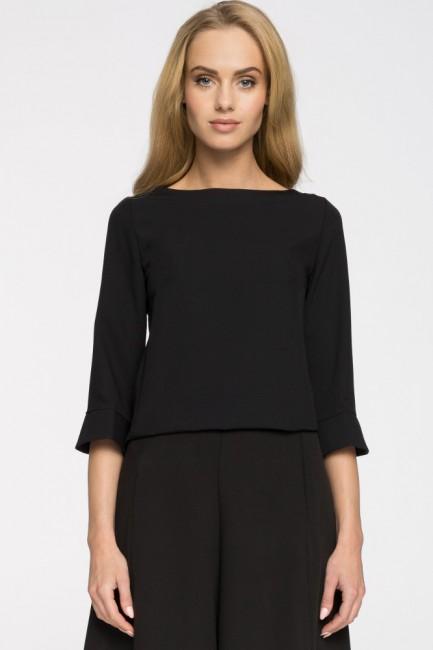 Prosta bluza damska zasuwana na zamek - czarna